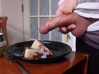 crossdressing yoga pants cake cum