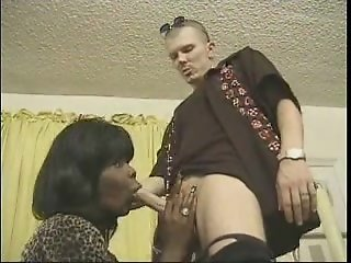 ebony shemale drills guy ass hole