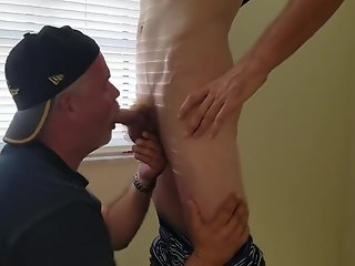 daddy blows ginger redneck