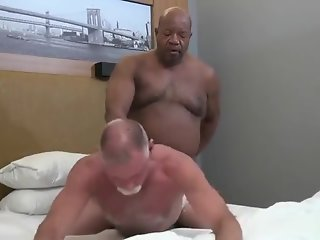 mature daddy fucked black grandpa bear