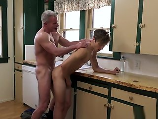 cute twink visits stepgrandpas cock sleepover