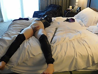 teased femboy bound