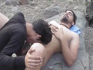 indian gay guys having fun forest