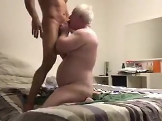 chubby grandpa daddy ass teared