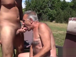 gay lets mouth filled cock