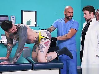 hunk visits proctologist fistfucked doctors
