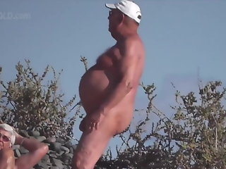 sexy older men nude beach