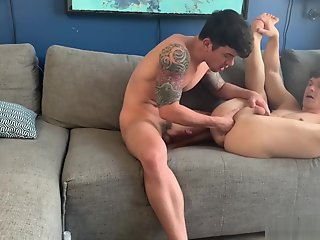 horny hunks film anal fisting session