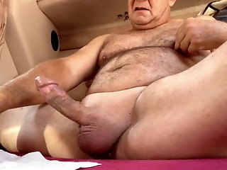 hung daddy bear massive cum shot
