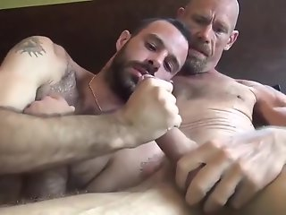 gunner david gifted daddy stuffing hairy