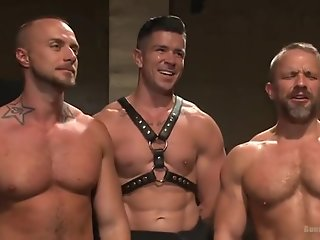 muscled hunks torment dirk caber trenton