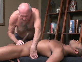 cock enjoys grandpa