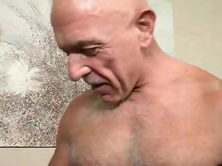 bald silver daddy eager