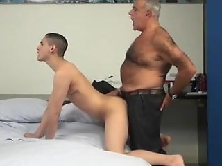 hairy daddy fucks smooth twink