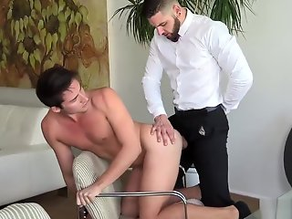 boss daddy likes suit fucking