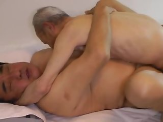 japanese daddy sex huge dick grandpa