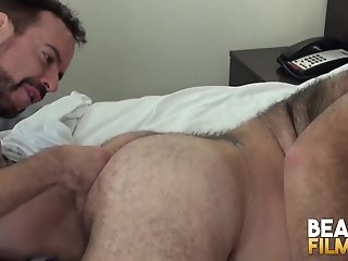 bearfilms inked bear fingers pounds hairy