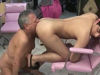 old/young gay rimjob