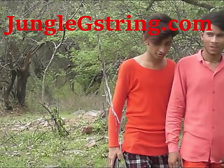 hunky desi indian boys roaming jungle